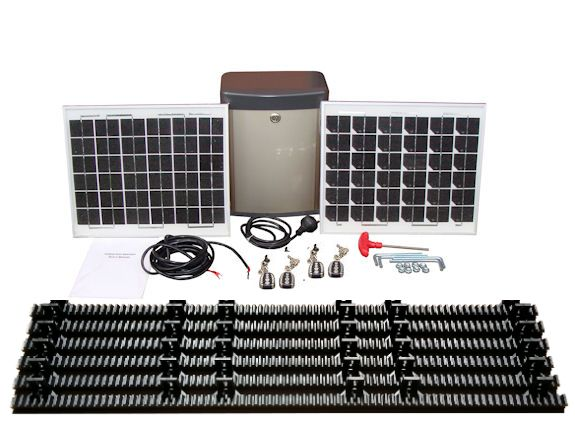 Ultimate package ac solar powered automatic sliding gate