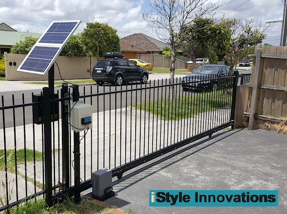 Solar powered automatic sliding gate opener ebay