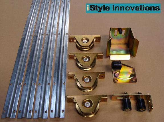 Sliding gate hardware accessories kit track wheels